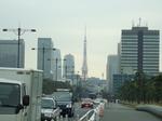 皇居前から東京タワー方面を望む